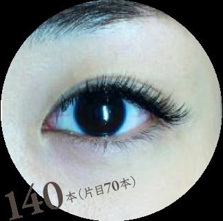 140本(片目70本)